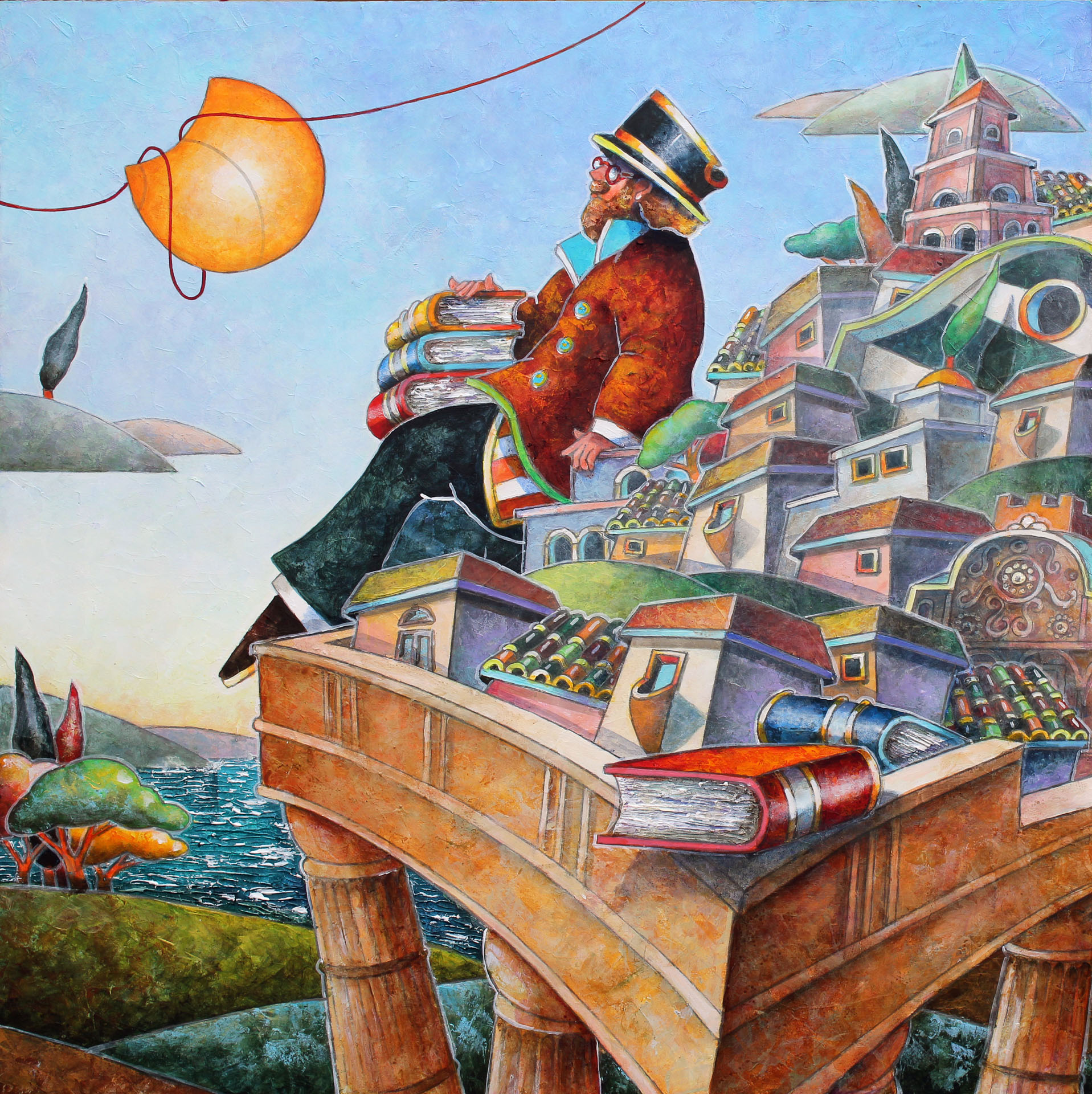 Il Professore, Un Libro...la Storia 50x50 Cm SM
